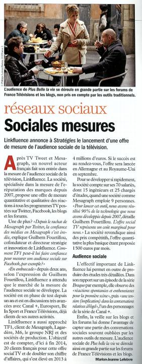 Linkfluence annonce le lancement de son offre #SocialTV ! http://t.co/tN84fmRdFE