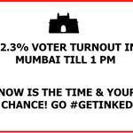 India is the largest democracy in the world, but fares poorly when it comes to voter turnouts! Mumbai go #GetInked http://t.co/uRwB9kexLN