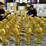 Strange news story of the day: A customs office in Zhejiang, China has seized 1,020 fake FIFA World Cup trophies. http://t.co/L6IYcMixnx