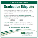 USF: No selfies on graduation stage http://t.co/gAOAC8PmP3 #10News #USF http://t.co/5ALYcTHoEE