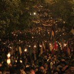 RT @ProSyriana: Last night in #Yerevan #Armenia on the 99th anniversary of the #ArmenianGenocide. http://t.co/T2YHMEd1A7
