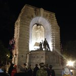 At the National War Memorial on North Terrace for the commencement of the RSL ANZAC Eve Youth Vigil. #LestWeForget http://t.co/vxbDGz4xbw