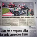 Great to get some local coverage in todays @NottinghamPost @OfficialBSB @JamieMorris19 @SwintonGroup @TAG_Racing http://t.co/yQQxhgigpr