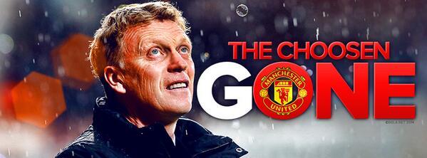 dari sudut pandang, Moyes dipecat, Manchester United, rekod