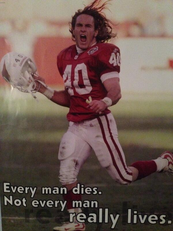 "Pat Tillman: ""Every man dies. Not every man really lives"" #10thAnniversary @pattillmanfnd http://t.co/qorRXeutxg"