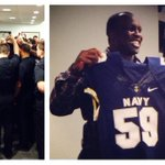 #NFL great London Fletcher spoke to the #navyfootball on Tuesday #IWILL http://t.co/bFz2d9oW8Z