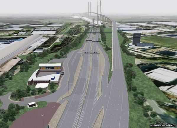 The free-flow charging system is due to come into operation at the crossing between Kent and Essex in October Nice RT http://t.co/9AYo7vwm7n