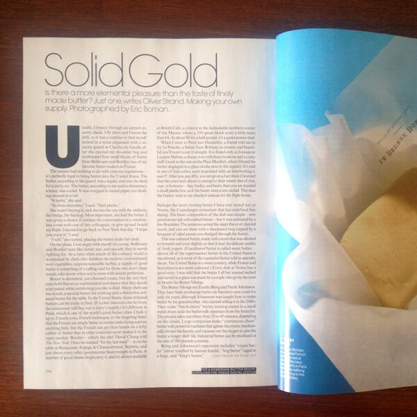 Ate some butter, made some butter, wrote about it for @voguemagazine. W/ @Butterviking, @dcpatterson, @elaineveronica http://t.co/EmuYb8lKDr
