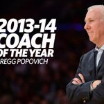 RT @spurs: Congrats to Coach Pop on being named the 2013-14 NBA Coach of the Year! http://t.co/IJAeQzvvgh #GoSpursGo http://t.co/lwE1xemkJ1