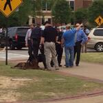 RT @EagleEyeTV: Officials are assessing the situation outside the Haley Center. http://t.co/Lr4GkTUtlF