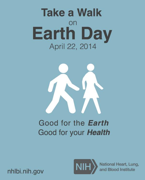 Take a walk. Ride a bike. Plant a tree. These activities will help Earth's health as well as your own. #EarthDay http://t.co/McaGWtsmC0