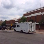 RT @OrangeNavyPhoto: Bomb squad is officially on the scene at Haley. (photo via eagle eye) http://t.co/6eI7dQK6vP
