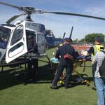 RT @MesaFireDept: Patient is loaded onto the helicopter #DHSMockCrash http://t.co/JCtLNrh8Zm