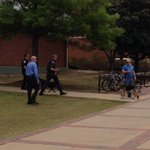 Bomb dogs being led out of Haley Center at #Auburn University: http://t.co/X1BB9H2PGo