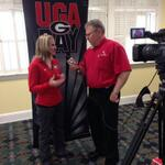 RT @UGAGymnastics: .@DannaDurante visits with local media at UGA Day in Gainesville. http://t.co/LFnoSUVIhX