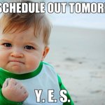 Sooooooooo... hear any exciting news today? #ScheduleReleaseTomorrow http://t.co/x9q3tvmHBO