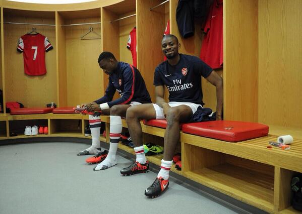 Bl2DjY1IYAEu79L Abou Diaby makes 45 minute return for Arsenal U21s [Pictures & best tweets]
