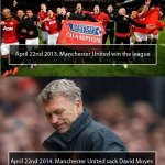 What a difference a year makes #MUFC http://t.co/yDkEsrlwRb