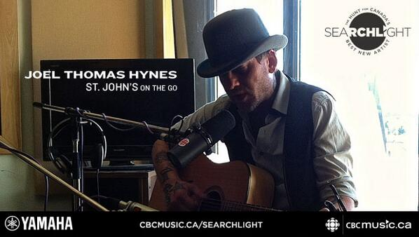 Congrats to @JoelThomasHynes who will represent Newfoundland in the national #Searchlight contest. http://t.co/HIoGahLDL2