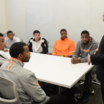 - @UTCoachTyndall meeting the team in person for the first time http://t.co/uysI6jzSUC