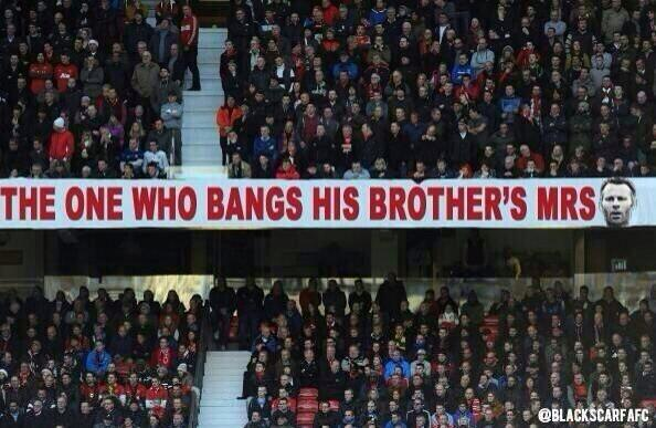 Even The Man Utd Fans Have There Banners On The Ready For This weekends Game! Up The Reds