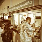 RT @MayorKirkHNL: First customers at new Pearl Harbor Satellite Vehicle Registration office. Open to all with base access Tues & Thurs. http://t.co/wzztp3otUc