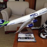 Thanks to @Boeing for the cool new office toy! #GoHawks http://t.co/XYnG5anDRg