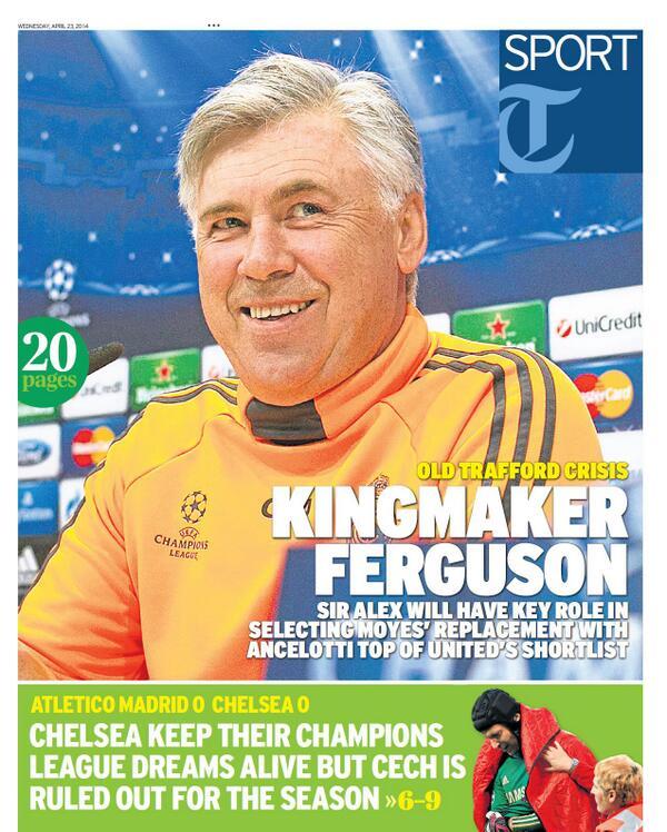 Bl2y4i IAAEPvy  Sir Alex Ferguson will choose man to replace David Moyes at Manchester United [Telegraph & Star]