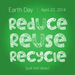 RT @hagersharp: Celebrate #EarthDay, we challenge you to commit to the 3 Rs: Reduce, Reuse, Recycle! For ideas http://t.co/r2v6Kw2TC2 http://t.co/oQ4uYW4upj
