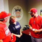 "RT @AngelsRBI: ""@Angels: First, Albert meets with the #499 fans that have the ball up. http://t.co/ibxsmcMCqS""// @angels no #whiff all Class"