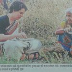 Priyanka taking lunch with villagers in Rai Bareli yesterday. #PriyankaVsBJP Ish zazbe ko mera salaam @INCIndia http://t.co/vRIf7bHFMF""