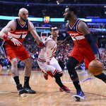 RT @GameOnWUSA9: John Wall scored 14 points in the first half... he had 16 in game 1 #Wizards #WizBulls #NBAPlayoffs #dcRising @wusa9 http://t.co/96q4IvdoYv