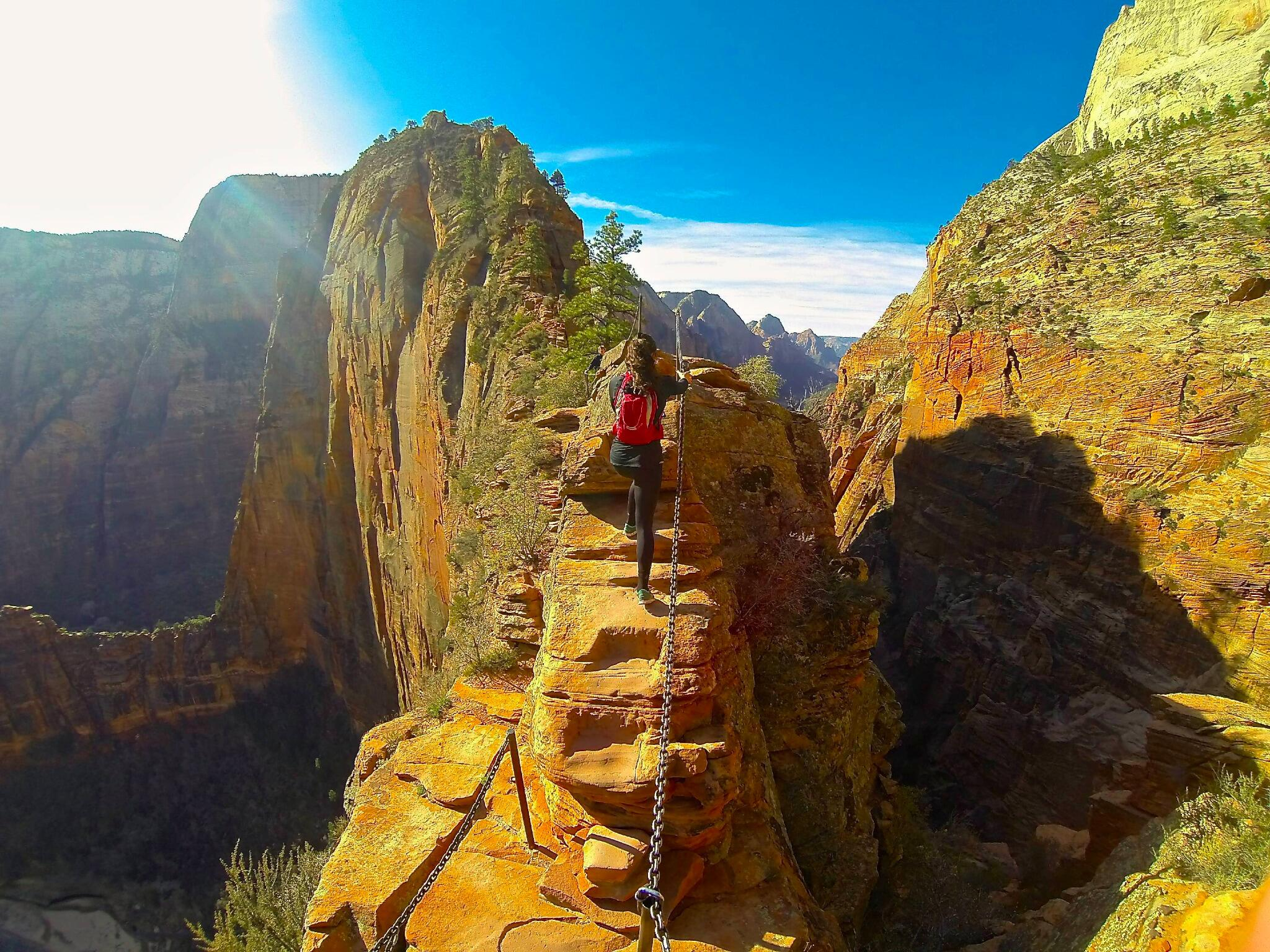 Exploring Zion National Park with Alexis Wiley. http://t.co/fvfhkghdyG