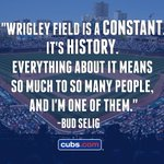 Commissioner Bud Selig's 1st @MLB game was at Wrigley Field in 1944. Read about his memories: http://t.co/7RWoGDOF4L http://t.co/Y7RpGbY2R5