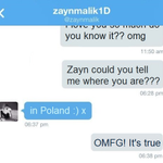 #WelcomeToPolandZayn  where is zayn? OMG ZAYN HAS JUST WRITTEN TO BRITISH DIRECTIONER! LOOK http://t.co/8aIGShVGJo