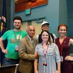 Pic of #SpaceMicrobes MERCCURI team @ryneches @davidacoil @TheWendyRed @jennomics w/ head of NASA Charles Bolden http://t.co/3K7uJT7STr