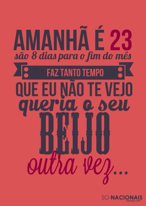 Amanha é 23... http://t.co/JuaYEmsnqD