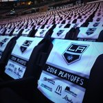 """@LAKings: Game day http://t.co/BLIh7S8qdh"" inside the bowl is so lovely. All these towels lining the seats. Time to start ;) #gkg"