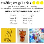 Well be enjoying Anzac Day with freshly baked Anzac cookies - come and take a bite! #trafficjamgalleries #ANZACDay http://t.co/MKwE8lr1O3