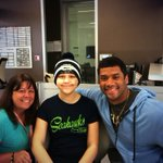 A future model! Plus Im totally digging the SB XLVIII beanie Brandi is rocking! @seattlechildren http://t.co/CJnB0sbhau