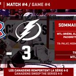 BALAYAGE! On se revoit en deuxième ronde! / SWEEP! See you in the second round! #GoHabsGo http://t.co/nwo2jifNRN