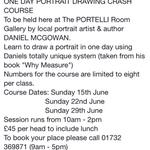 PORTRAIT DRAWING courses at The PORTELLI Room Gallery #art #tonbridge #talent http://t.co/DMysdC2Fee