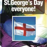 Happy #StGeorgesDay - from everyone at @BirminghamPride - Supporting #EQUALITY & #FREEDOM AROUND THE WORLD! http://t.co/aIrsRoIeos
