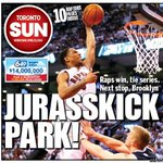 RT @jonmccarthySUN: With all the hype, youd think #Raptors hadnt won playoff game in 6 years...oh, wait. Tmrws @TheTorontoSun front http://t.co/xGViKo7NTG