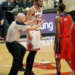 Noahs face (and fist) ... photo via @ScottStrazzante. #bulls http://t.co/50sEc9HZUA