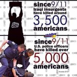 RT @OccupyWallStNYC: Since 9/11 more Americans have been killed by the police than Americans killed by Iraqi insurgents http://t.co/nVW6kTlSgI #MyNYPD