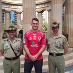 RT @Reds_Rugby: .@JHorwill is at the ANZAC Memorial in Bris City launching the ANZAC jersey the team will wear this Saturday night http://t.co/03dJjQKdJc