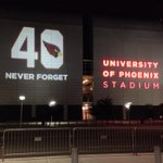 RT @Cardschatter: Tonight at University of Phoenix Stadium. #PatTillman #AzCardinals http://t.co/888SfXK8JL