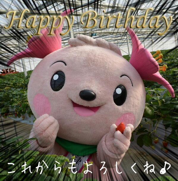 壁|q´ω`*)4月23日!きょうは、きみぴょんの誕生日っ♪ みんな、たくさんのメッセージどうもありがとおおおお!これからも「きみぴょん」と君津市をどうぞよろしくねぇ☆ミ http://t.co/m1Ub2RJNZQ