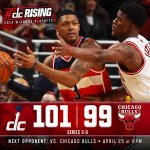 RT @WashWizards: #WizBulls #dcRising http://t.co/ooBICjHnQo